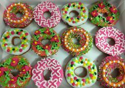 Pink and Green Donuts