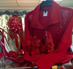 Red Shirt on Display in Shop